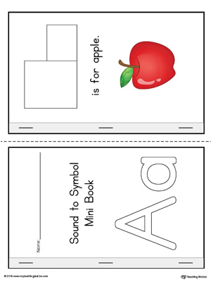 Letter A Cut-And-Paste Printable Mini Book (Color)
