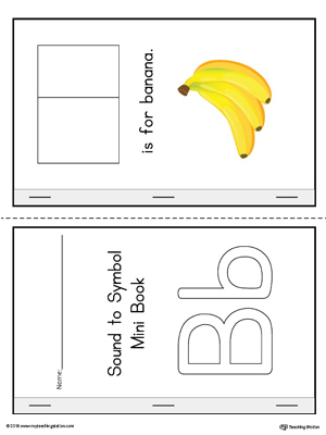 Letter B Cut-And-Paste Printable Mini Book (Color)