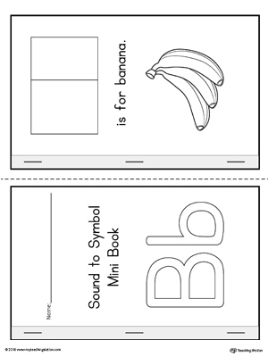 Letter B Cut and Paste Printable Mini Book