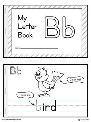 Letter B Mini Book Printable