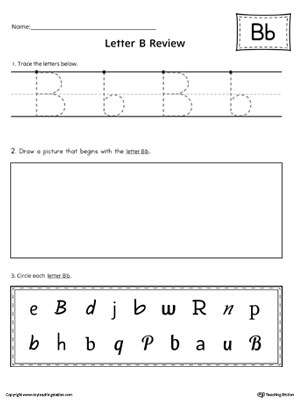 Letter B Practice Worksheet
