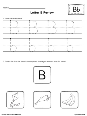 Letter B Review Worksheet