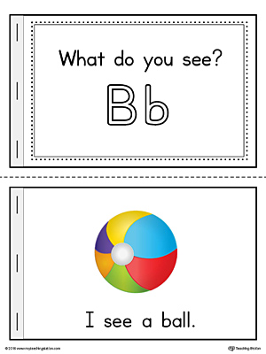 Letter B Words Printable Mini Book (Color)