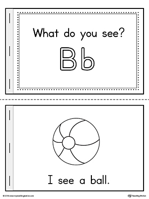 Letter B Words Printable Mini Book