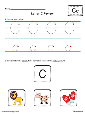 Letter C Review Worksheet (Color)