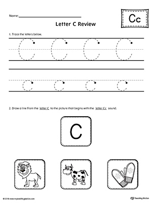Letter C Review Worksheet