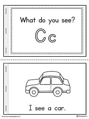 Letter C Words Printable Mini Book