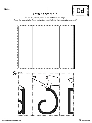 Letter D Scramble Worksheet