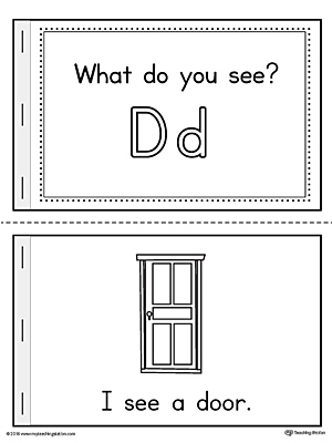 letter d words printable mini book