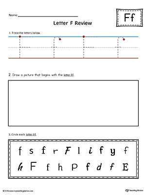 Letter F Practice Worksheet