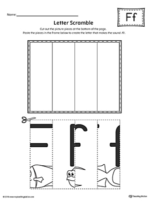 Letter F Scramble Worksheet
