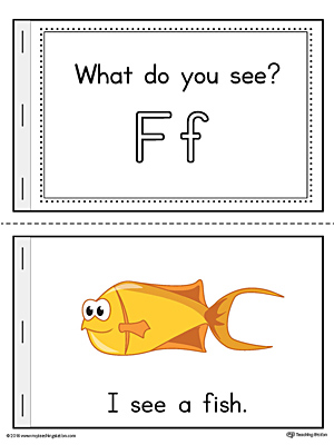 Letter F Words Printable Mini Book (Color)
