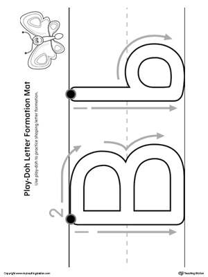 Letter Formation Play-Doh Mat: Letter B