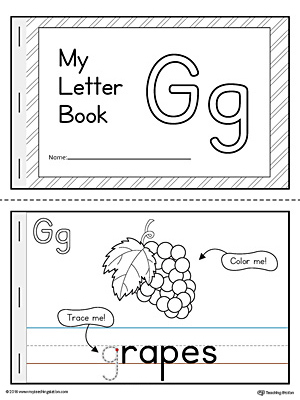 letter g mini book printable. Black Bedroom Furniture Sets. Home Design Ideas