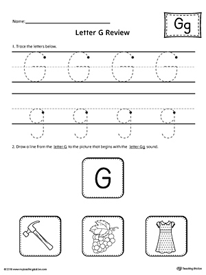Letter G Review Worksheet
