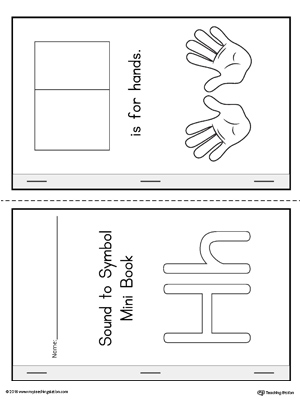 Letter H Cut and Paste Printable Mini Book