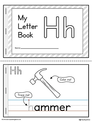 image regarding Letter H Printable named Letter H Mini E book Printable
