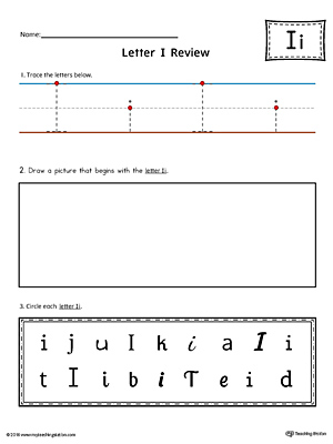 Letter I Practice Worksheet