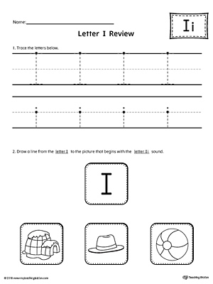 Letter I Review Worksheet
