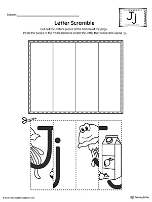 Letter J Scramble Worksheet