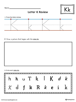 Letter K Practice Worksheet
