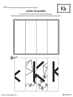 Letter K Scramble Worksheet