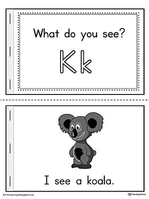 Letter K Words Printable Mini Book (Color ...