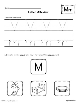 Letter M Review Worksheet