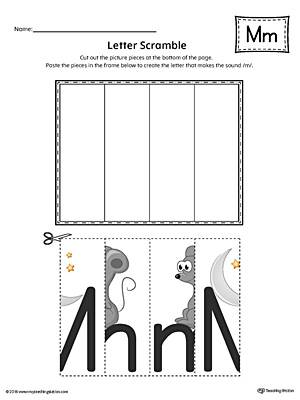 letter m scramble worksheet color. Black Bedroom Furniture Sets. Home Design Ideas