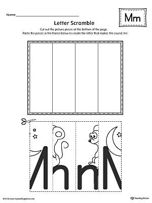 Letter M Scramble Worksheet