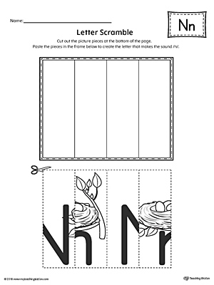 Letter N Scramble Worksheet