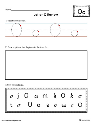 Use the Letter O Practice Worksheet to help your student identify and trace the letter O along with recognizing it