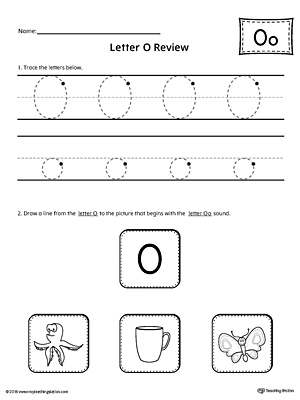 Letter O Review Worksheet