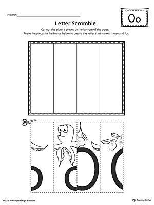 Letter O Scramble Worksheet