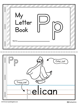 Letter P Mini Book Printable