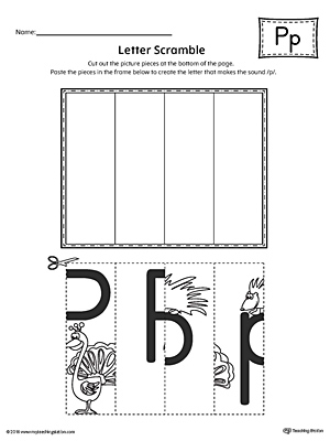Letter P Scramble Worksheet