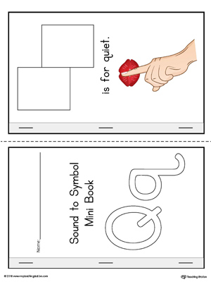 Letter Q Cut-And-Paste Printable Mini Book (Color)