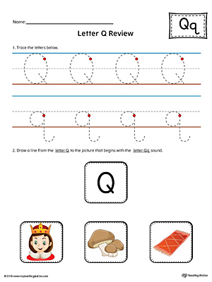 Early Childhood Letters Worksheets MyTeachingStation