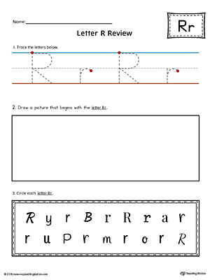 Letter R Practice Worksheet