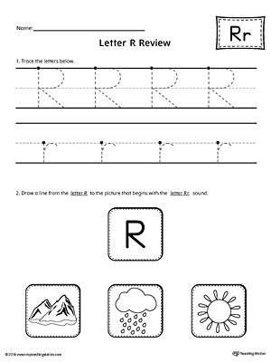 letter r review worksheet. Black Bedroom Furniture Sets. Home Design Ideas