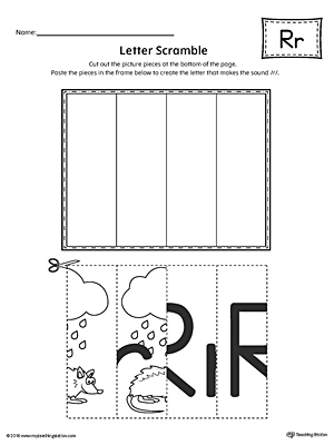 Letter R Scramble Worksheet