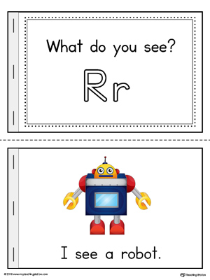 Letter R Words Printable Mini Book (Color)