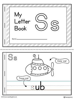 Letter S Mini Book Printable Myteachingstation Com