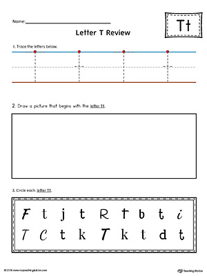 Letter T Practice Worksheet
