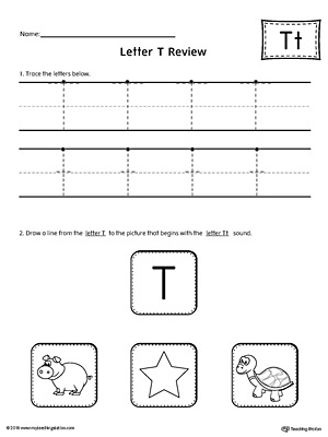 Letter T Review Worksheet