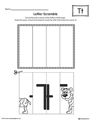 Letter T Scramble Worksheet