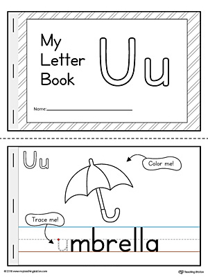 It is a picture of Printable Letter Books for Kindergarten in cover