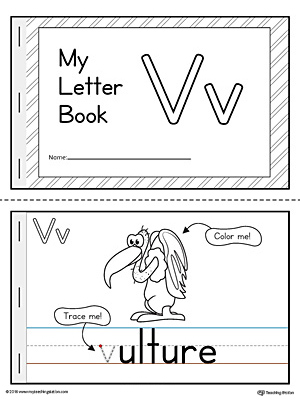 photo regarding Letter V Printable titled Letter V Mini Ebook Printable