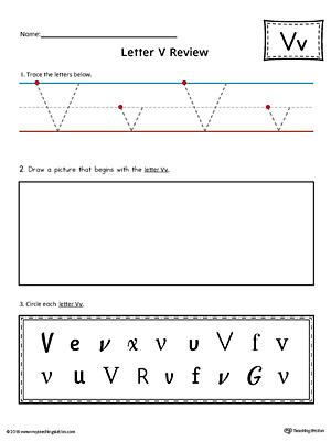 letter v beginning sound color pictures worksheet. Black Bedroom Furniture Sets. Home Design Ideas