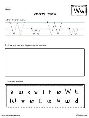 Letter W Practice Worksheet